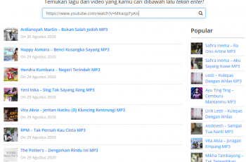 cara download lagu lewat laptop
